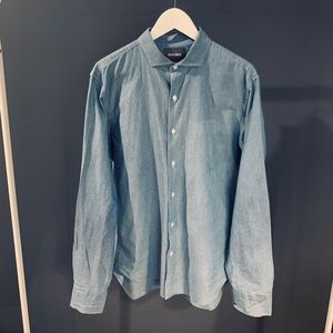 Bonobos Blue Chambray Button-Down Shirt